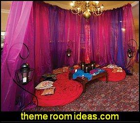 gossamer fabric iridescent chiffon i dream of jeannie theme bedroom decorating ideas - Moroccan Bedroom Decorating Ideas