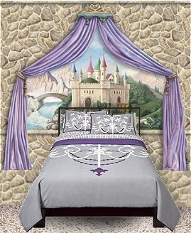 Purple Bedroom Ideas on Theme Bedroom Ideas   Fairy Tale Castle Beds   Girls Princess Bedroom