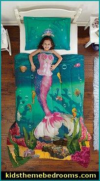 Mermaid Bedroom Decor Mermaid Bedding Mermaid Wall
